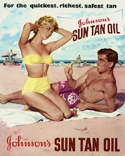 Sun Tan Oil Beach Vintage